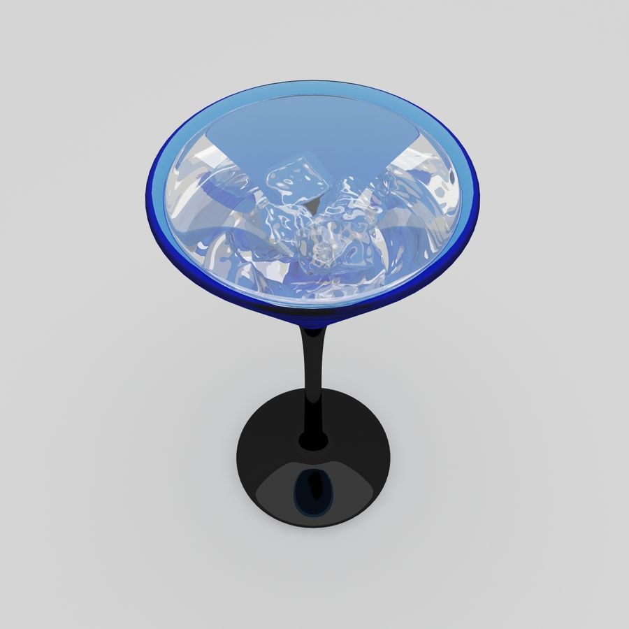 Martini Deep Blue royalty-free 3d model - Preview no. 4