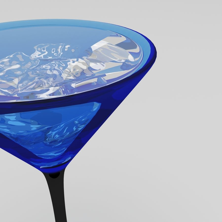 Martini Deep Blue royalty-free 3d model - Preview no. 5