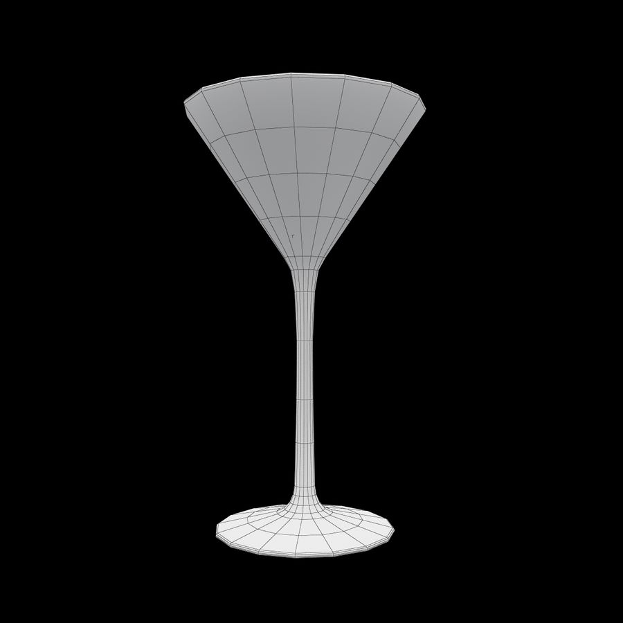 Martini Deep Blue royalty-free 3d model - Preview no. 8