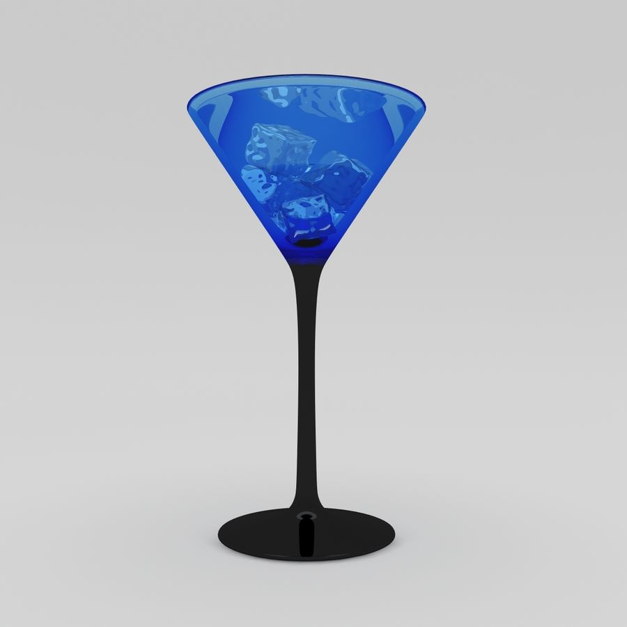 Martini Deep Blue royalty-free 3d model - Preview no. 3