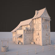 Casa Medevial modelo 3d