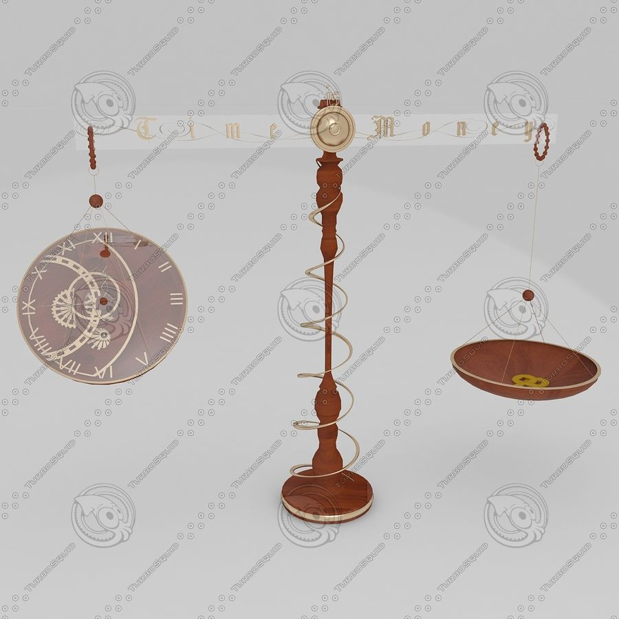 Time is money Clock royalty-free 3d model - Preview no. 1