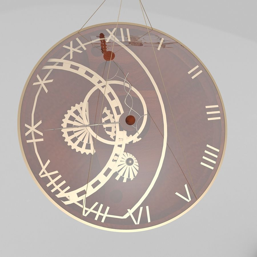 Time is money Clock royalty-free 3d model - Preview no. 2