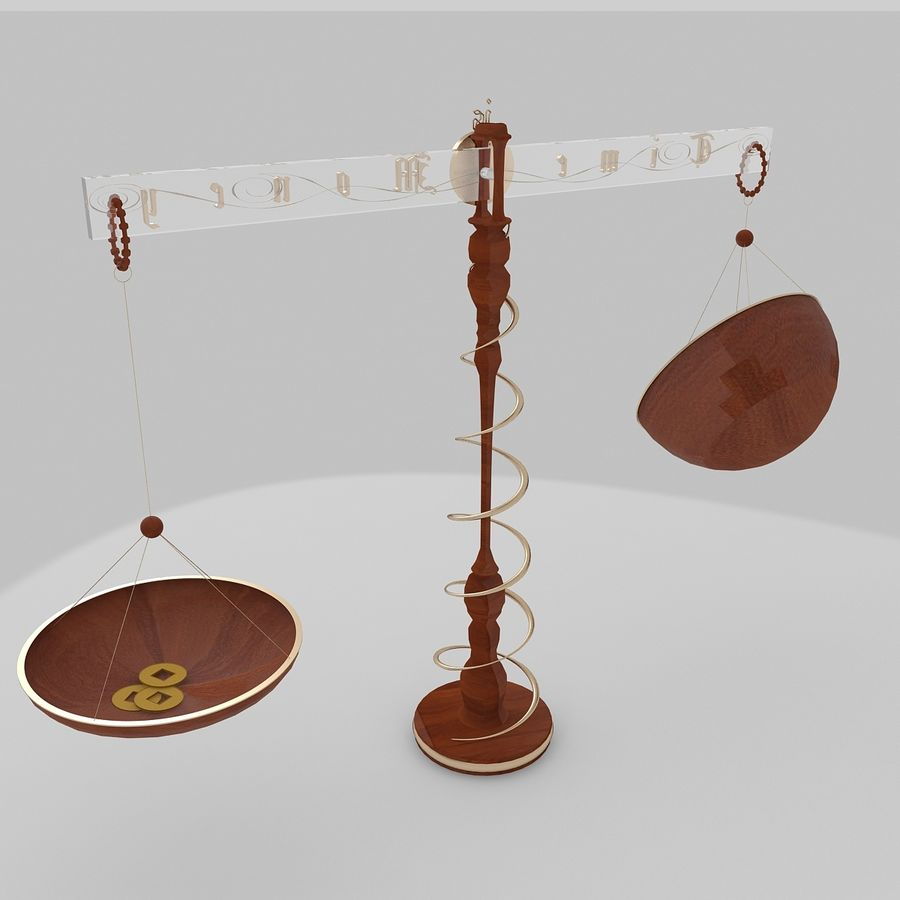 Time is money Clock royalty-free 3d model - Preview no. 3