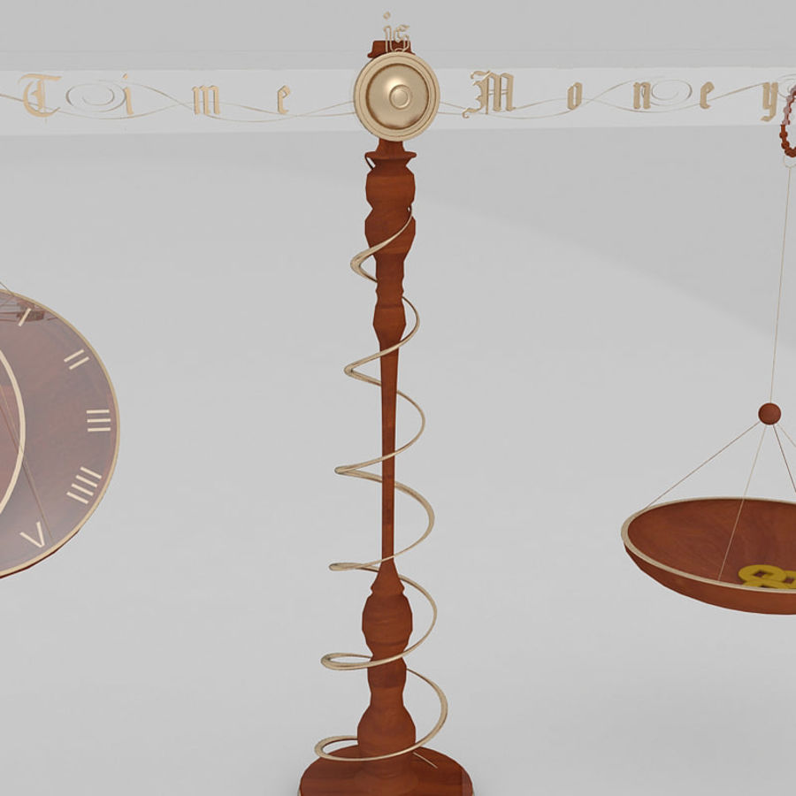 Time is money Clock royalty-free 3d model - Preview no. 4