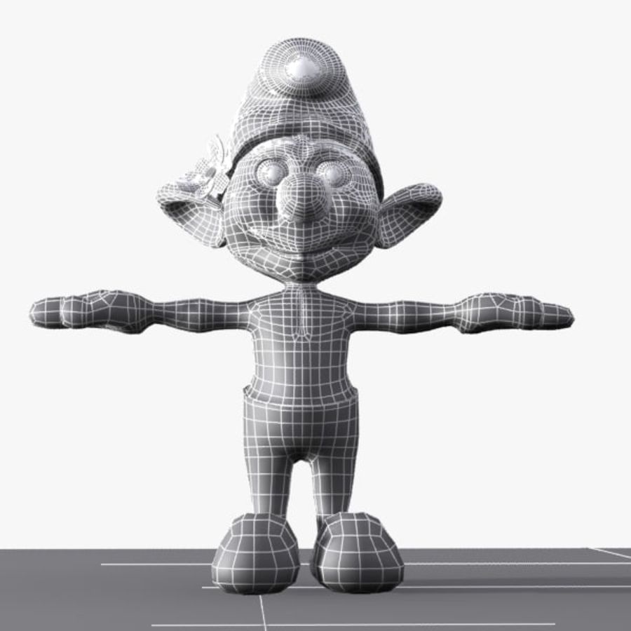 Vanity Smurf royalty-free 3d model - Preview no. 9