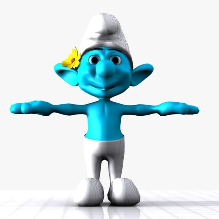 Vanity Smurf royalty-free 3d model - Preview no. 1