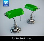 Bankers skrivbordslampa 3d model