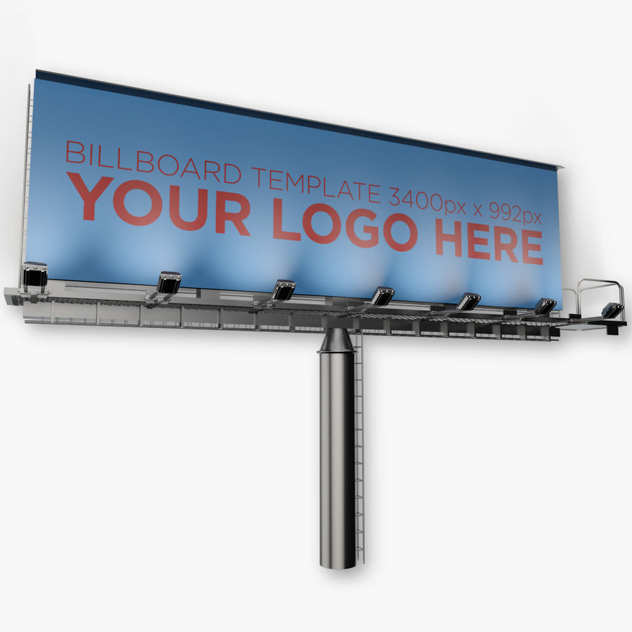 Advertising Billboard royalty-free 3d model - Preview no. 2