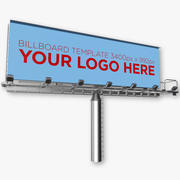 Advertising Billboard 3d model
