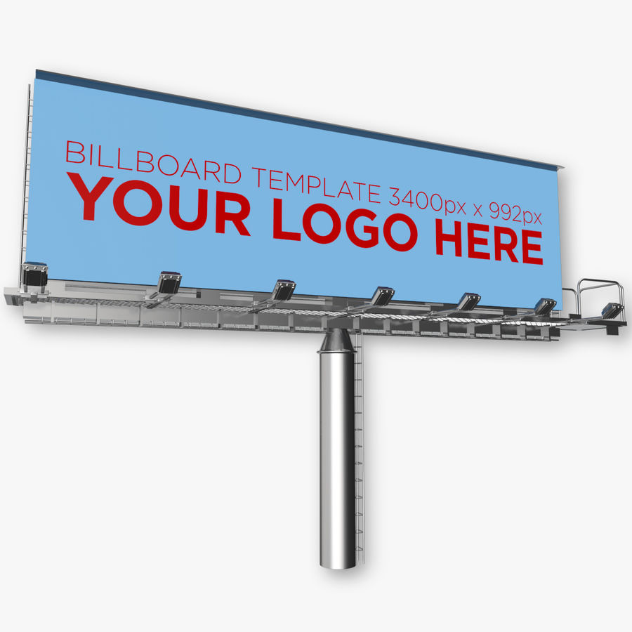 Advertising Billboard royalty-free 3d model - Preview no. 1