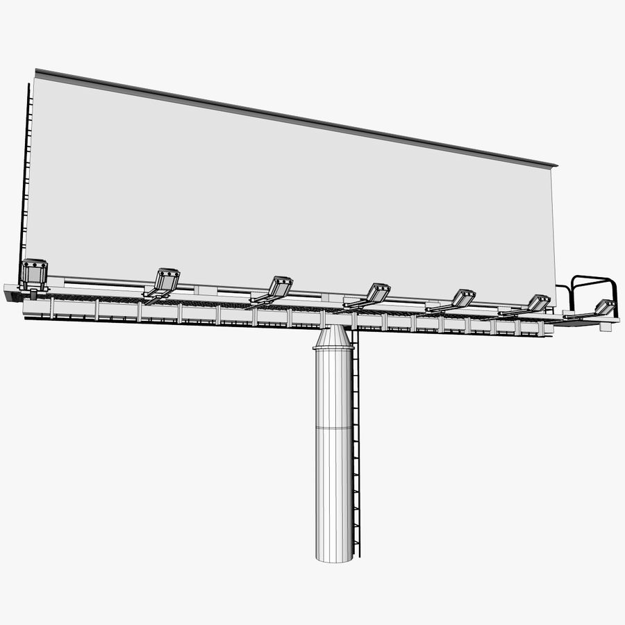 Advertising Billboard royalty-free 3d model - Preview no. 8