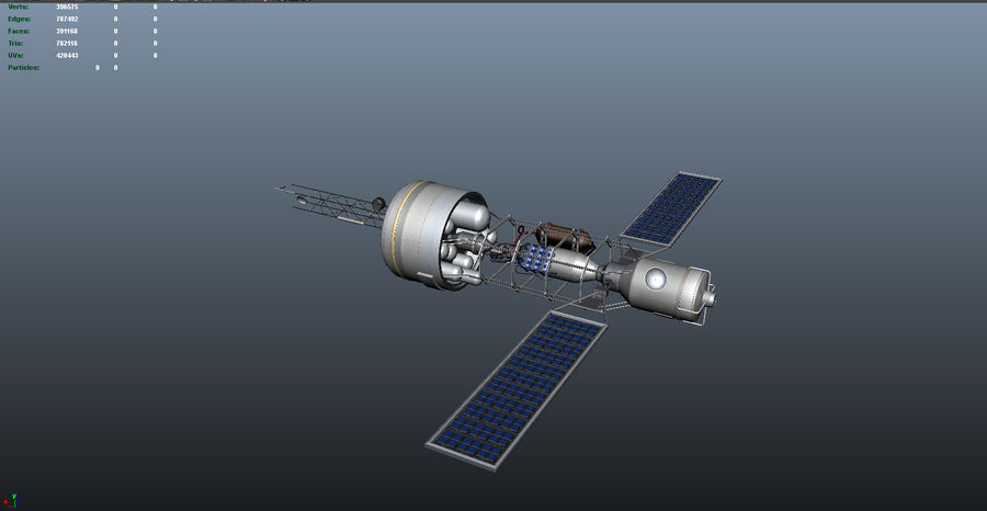 Satellitare royalty-free 3d model - Preview no. 3