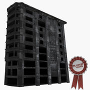 Ruin Damaged Building 2 3d model