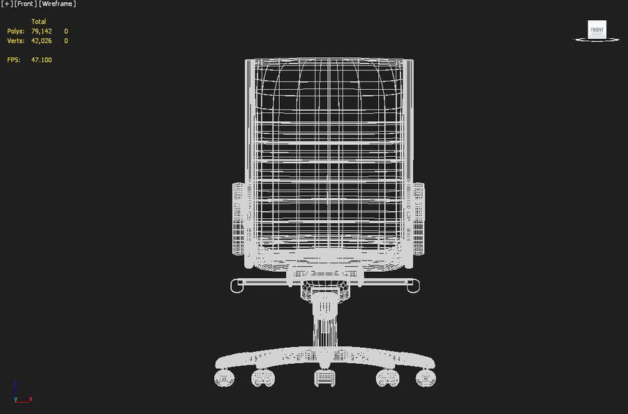 现代办公椅 royalty-free 3d model - Preview no. 4