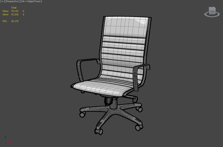 现代办公椅 royalty-free 3d model - Preview no. 3