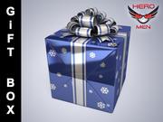 Geschenkbox Blau 3d model