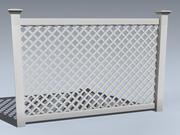 Забор (Виниловая Решетка) 3d model