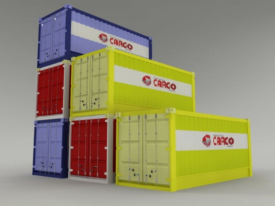 cargo container royalty-free 3d model - Preview no. 2