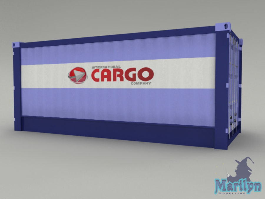 cargo container royalty-free 3d model - Preview no. 5