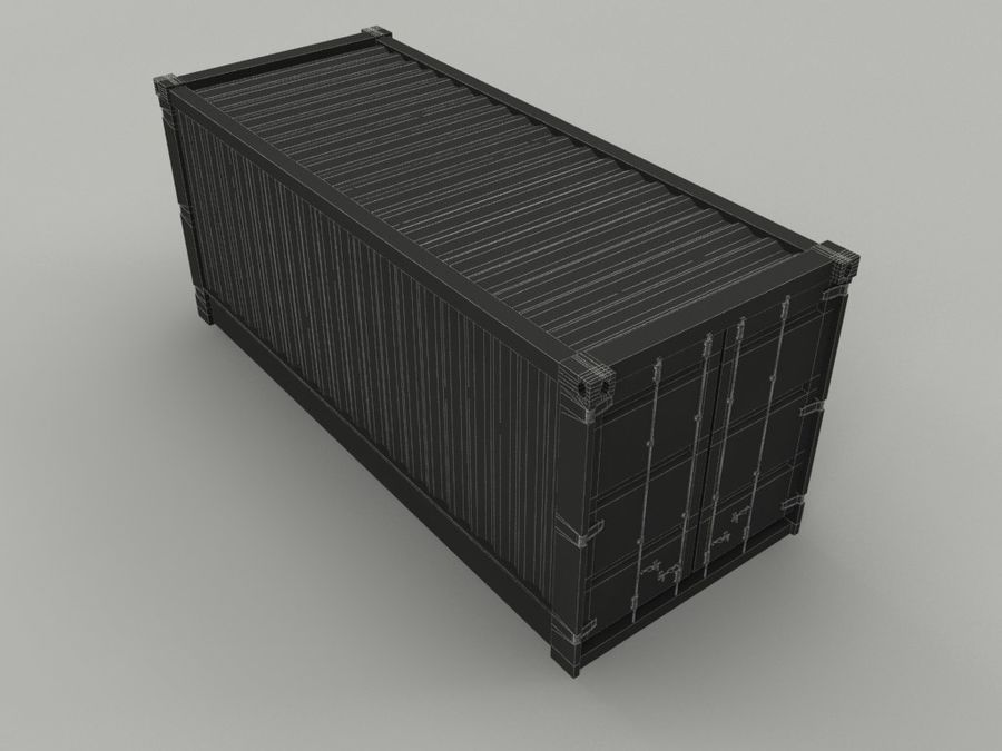 cargo container royalty-free 3d model - Preview no. 6