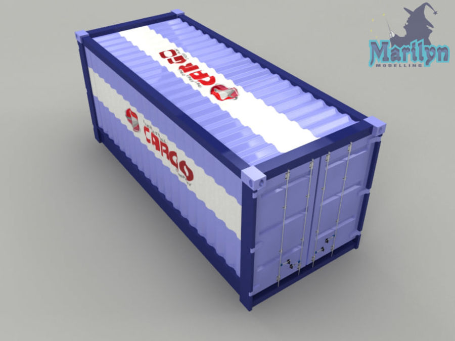 cargo container royalty-free 3d model - Preview no. 3