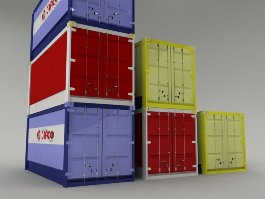 cargo container royalty-free 3d model - Preview no. 1