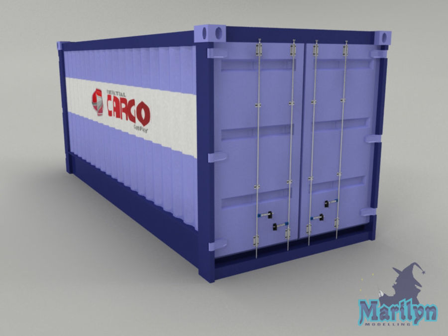 cargo container royalty-free 3d model - Preview no. 4