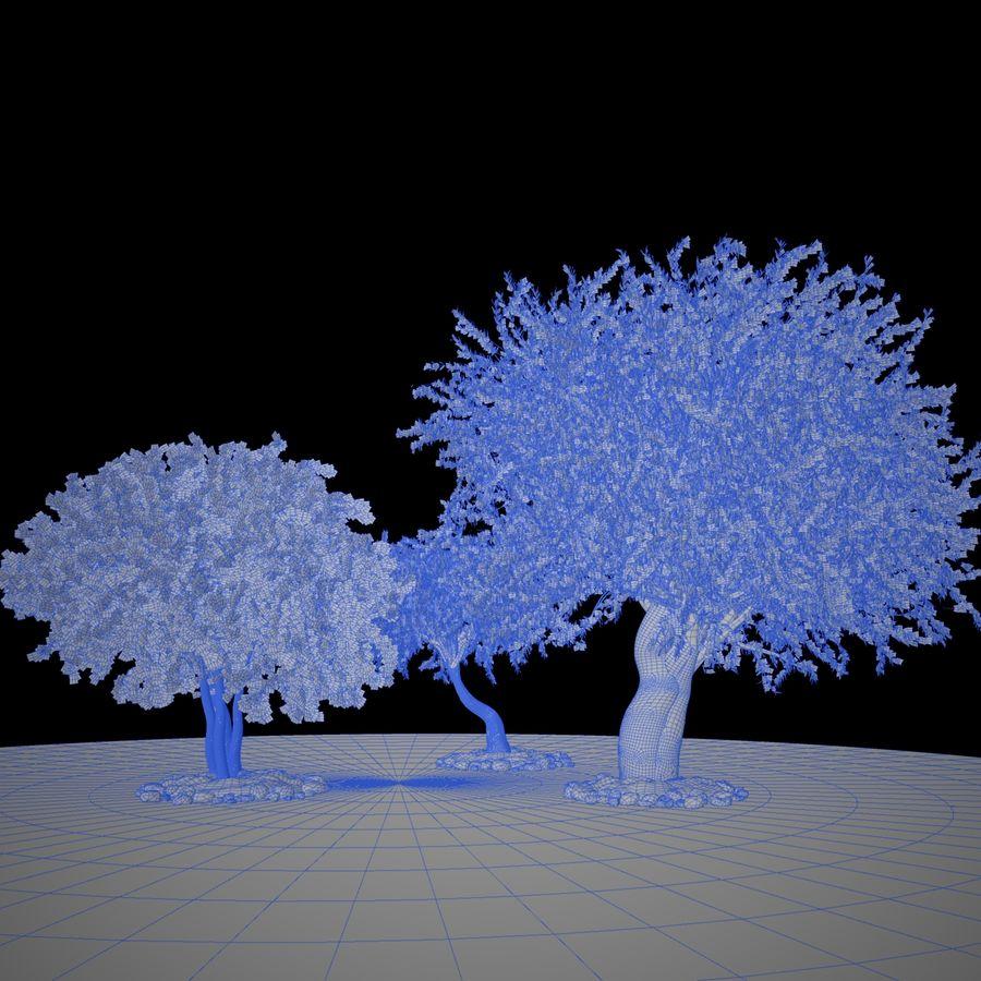 Cena de planta de árvore realista Olea royalty-free 3d model - Preview no. 13