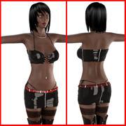 Ébano menina v2 3d model