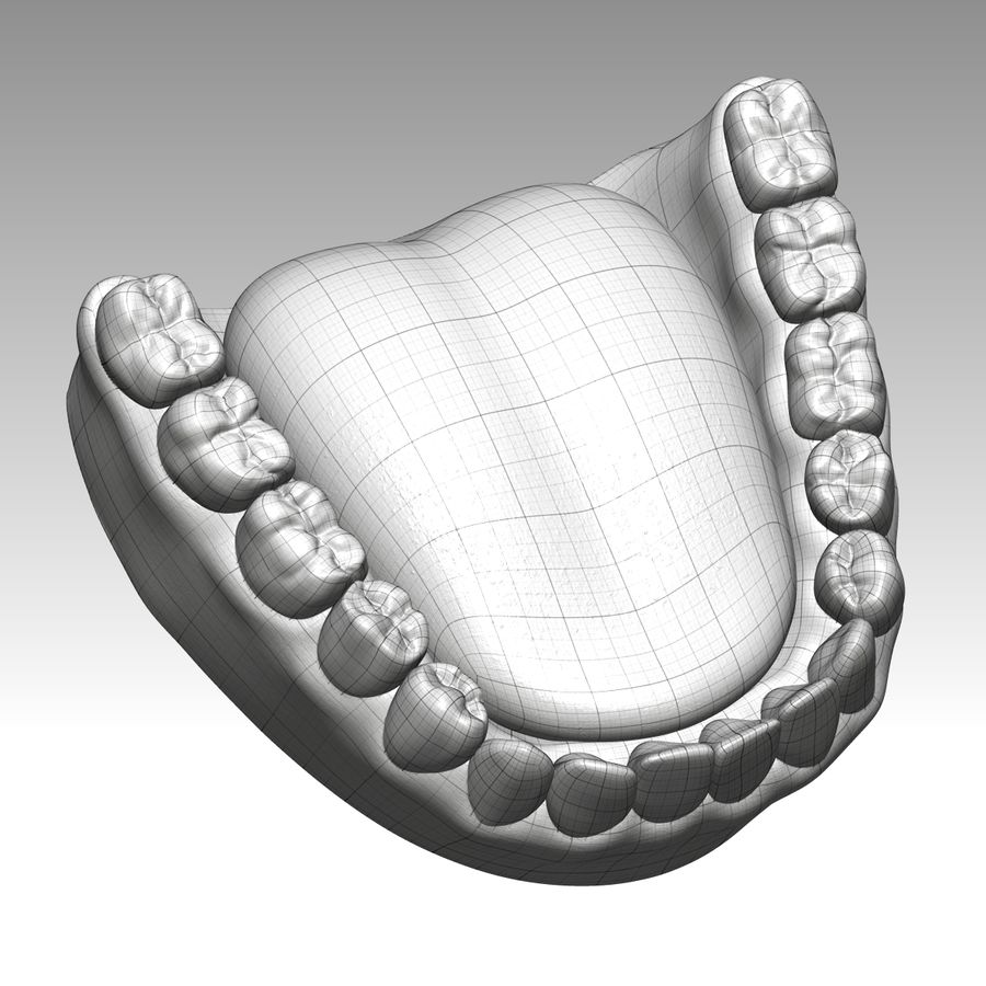 Bouche royalty-free 3d model - Preview no. 7