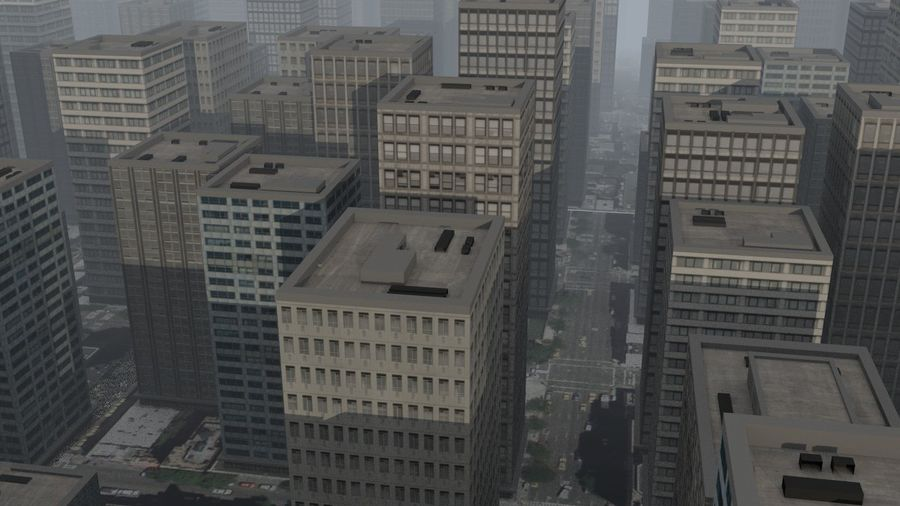 City Scape royalty-free 3d model - Preview no. 5