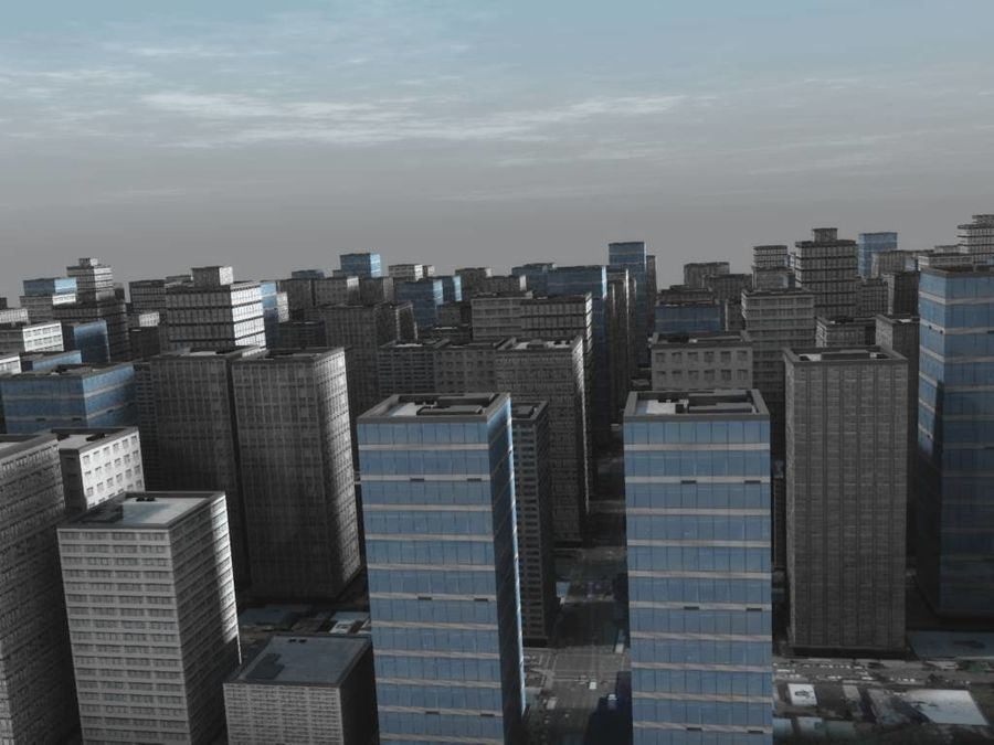 City Scape royalty-free 3d model - Preview no. 1