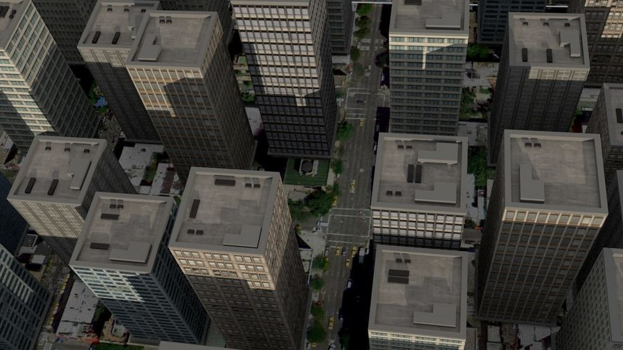 City Scape royalty-free 3d model - Preview no. 2