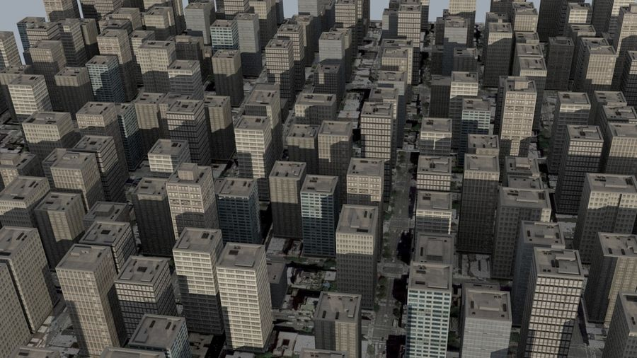 City Scape royalty-free 3d model - Preview no. 3