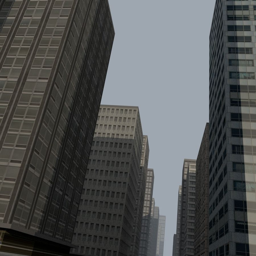City Scape royalty-free 3d model - Preview no. 6