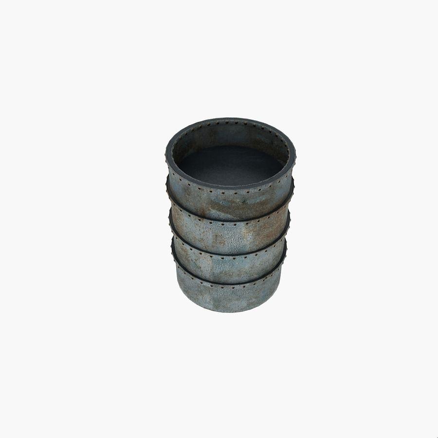 Metal Water Barrel royalty-free 3d model - Preview no. 10