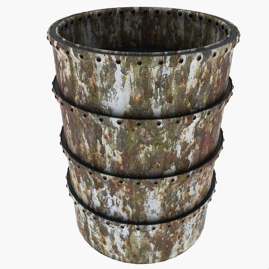 Metal Water Barrel royalty-free 3d model - Preview no. 19