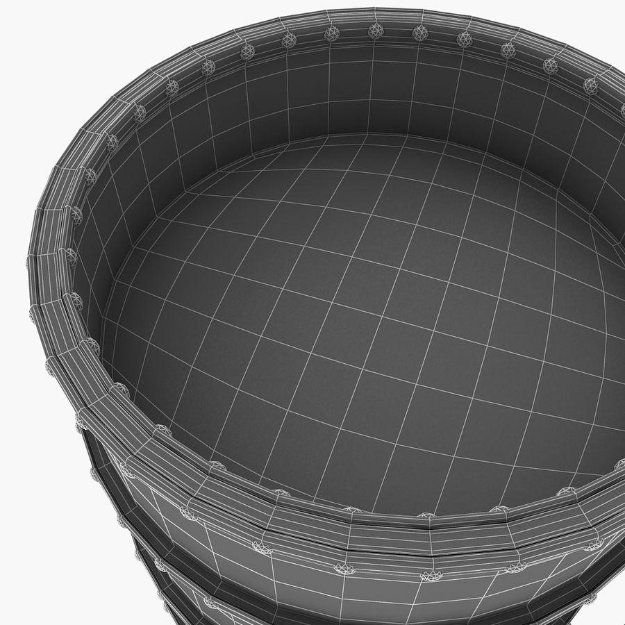 Metal Water Barrel royalty-free 3d model - Preview no. 20