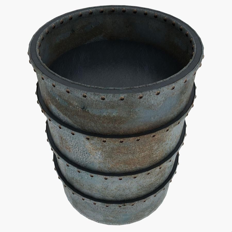 Metal Water Barrel royalty-free 3d model - Preview no. 1