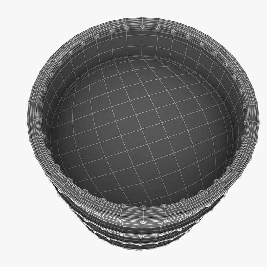 Metal Water Barrel royalty-free 3d model - Preview no. 22