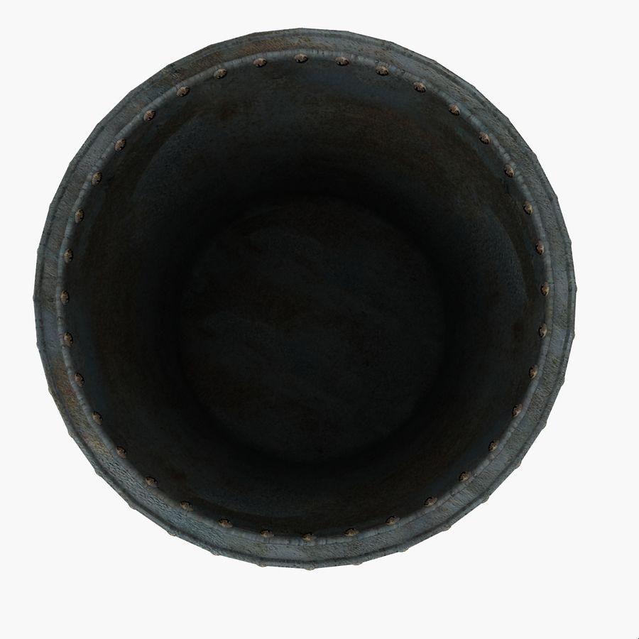 Metal Water Barrel royalty-free 3d model - Preview no. 11