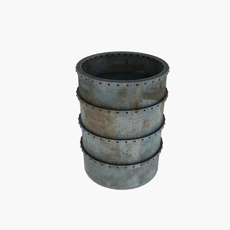 Metal Water Barrel royalty-free 3d model - Preview no. 5