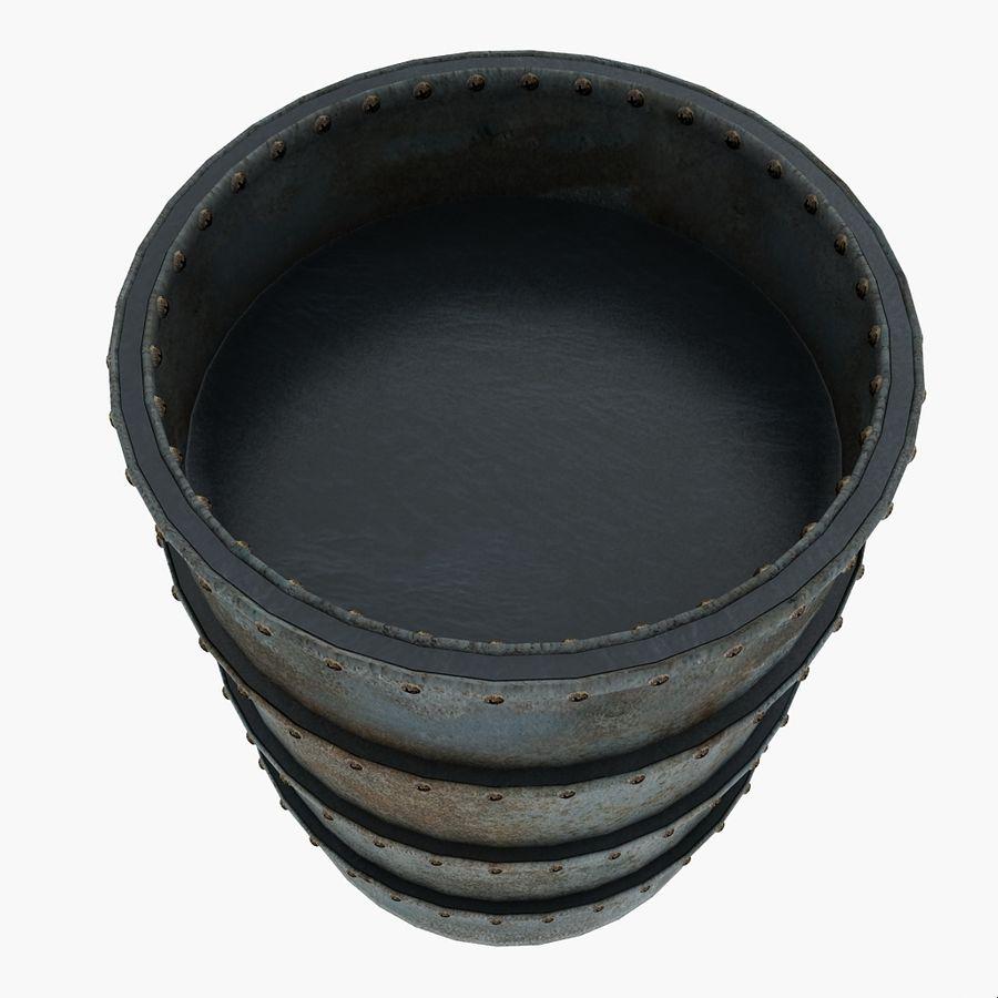 Metal Water Barrel royalty-free 3d model - Preview no. 6