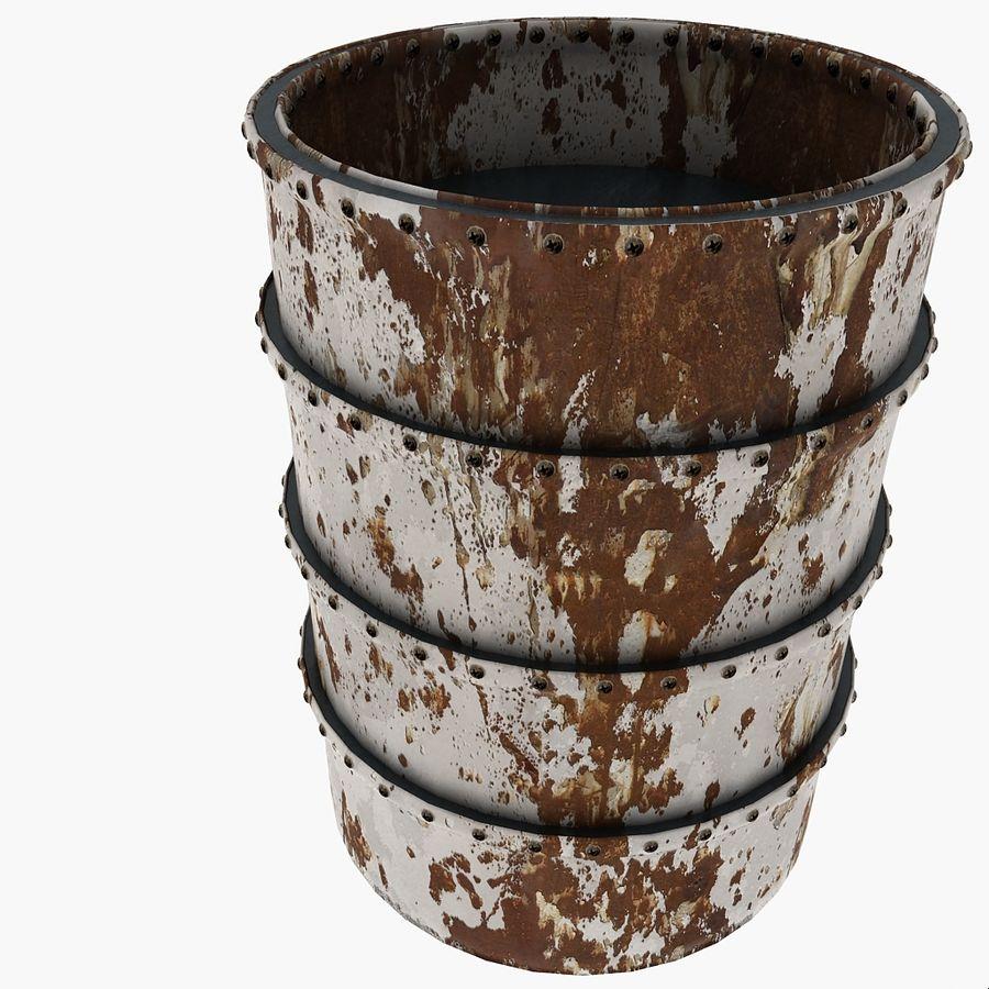 Metal Water Barrel royalty-free 3d model - Preview no. 18