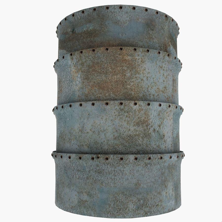 Metal Water Barrel royalty-free 3d model - Preview no. 2