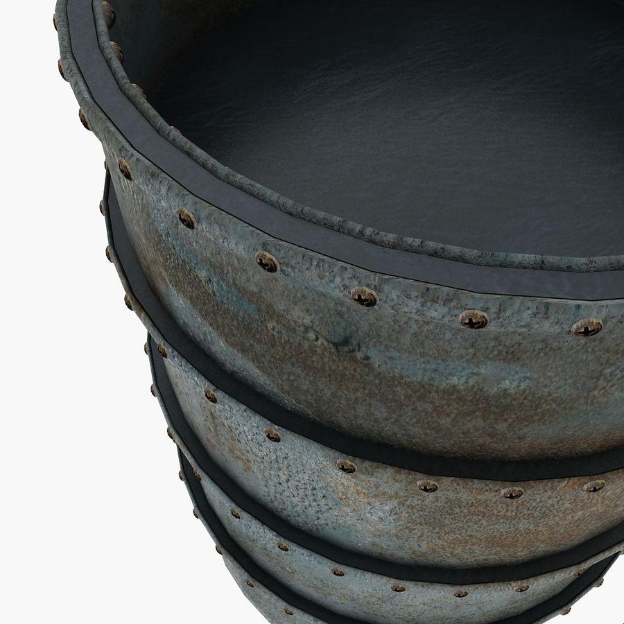 Metal Water Barrel royalty-free 3d model - Preview no. 8