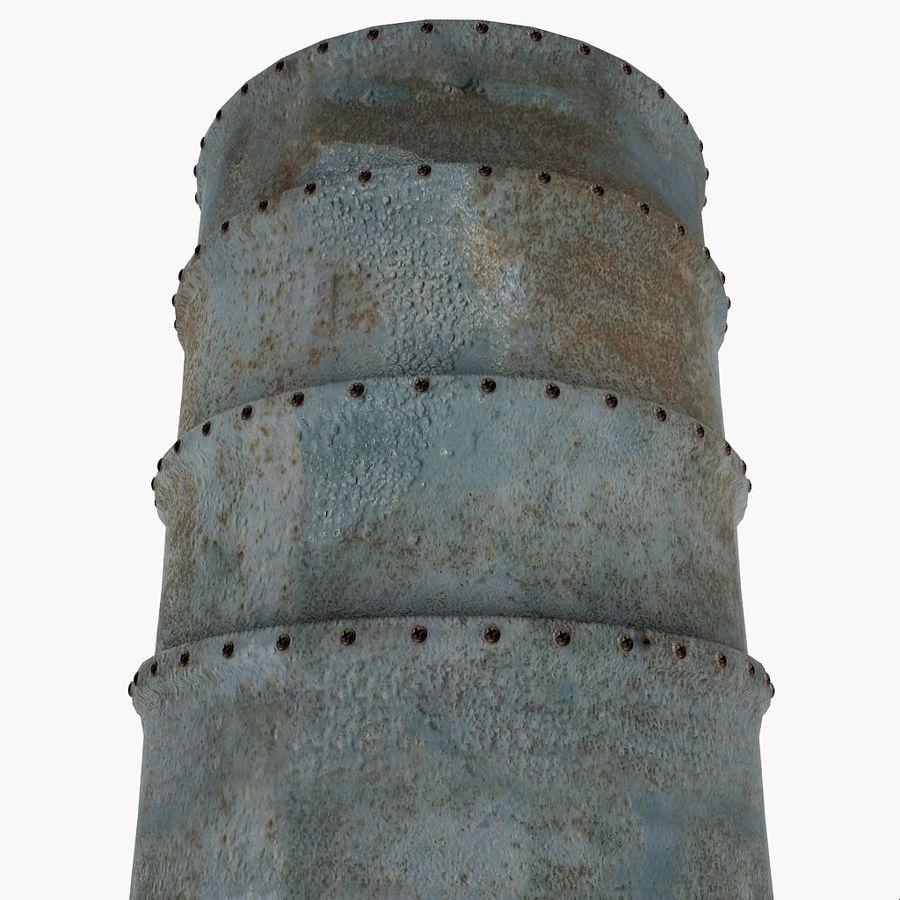 Metal Water Barrel royalty-free 3d model - Preview no. 7