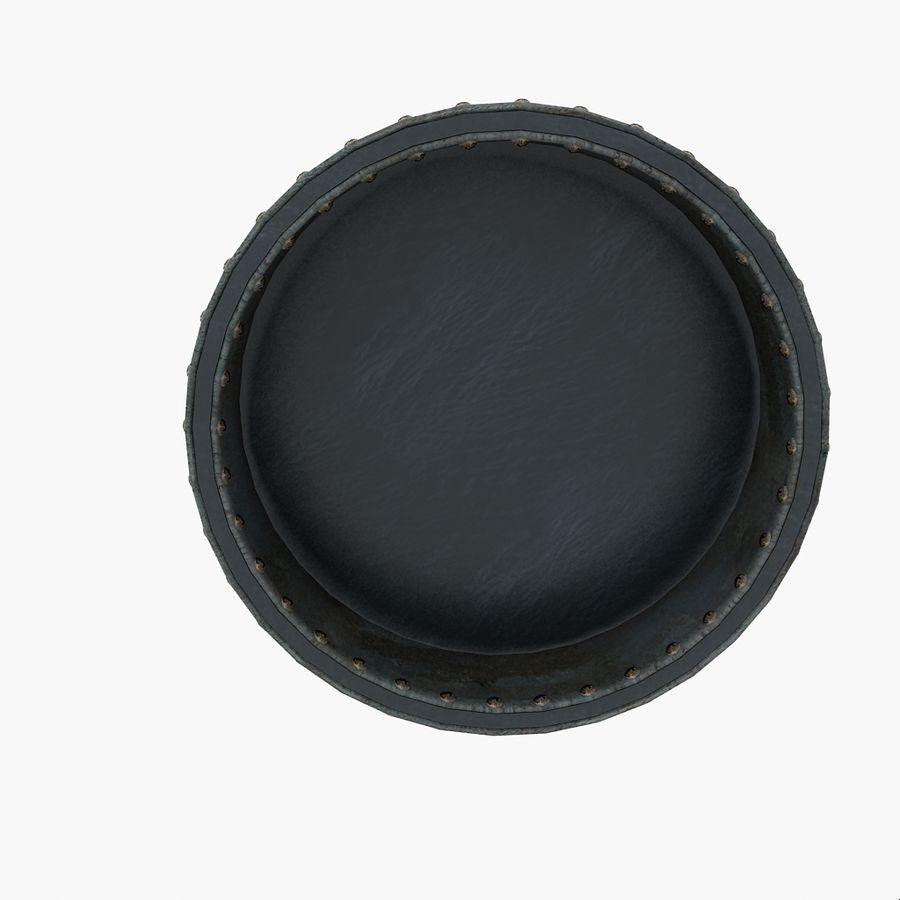 Metal Water Barrel royalty-free 3d model - Preview no. 4