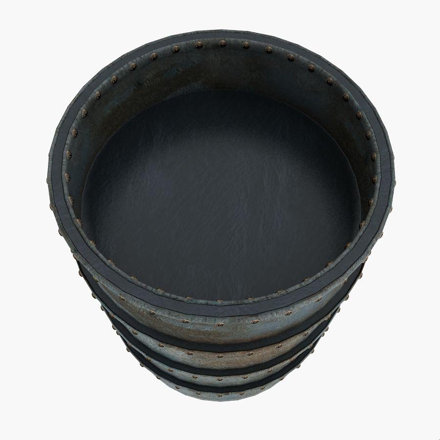 Metal Water Barrel royalty-free 3d model - Preview no. 3